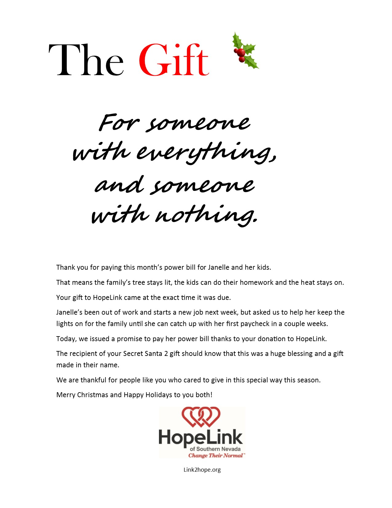 Give The Gift To Someone Who Has Everything And With Nothing